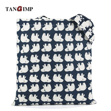 TANGIMP 2016 Canvas Bags Big White Bear in Blue Cotton Linen Eco Shopping Bags Totes kabelky boodschappentas Shoulder Handbags(China (Mainland))