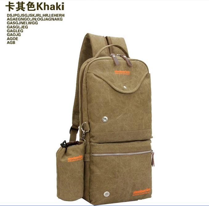 Messenger Gaming Bags Camping bag Zipper Canvas for Gaming Keyboard Gaming Mouse Gaming headset Steelseries Backpack 26*12*52cm(China (Mainland))