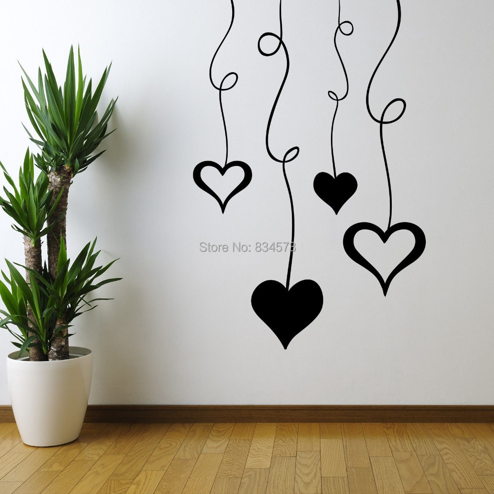 Buy hot pattern love hearts wall art for Hearts decorations home