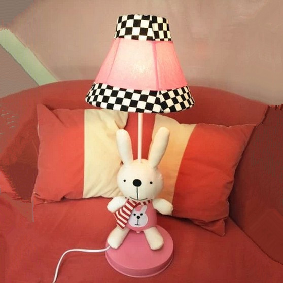 free shipping Pastoral marriage room creative fashion cartoon children cloth table lamp bedroom bedside lamp wedding Table Lamps<br><br>Aliexpress