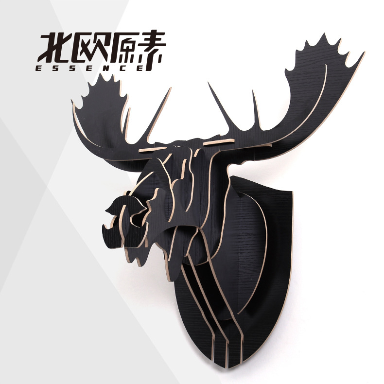 The Moose Head North European Pastoral Creative Home Furnishing Wall Decorations, Christmas Wedding Gift Card Tenon Structure(China (Mainland))