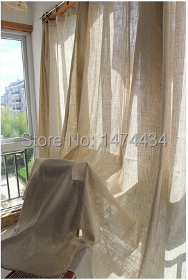 Free shipping New finished product Linen curtains for the bedroom,solid window curtain for the living room,home blind(China (Mainland))