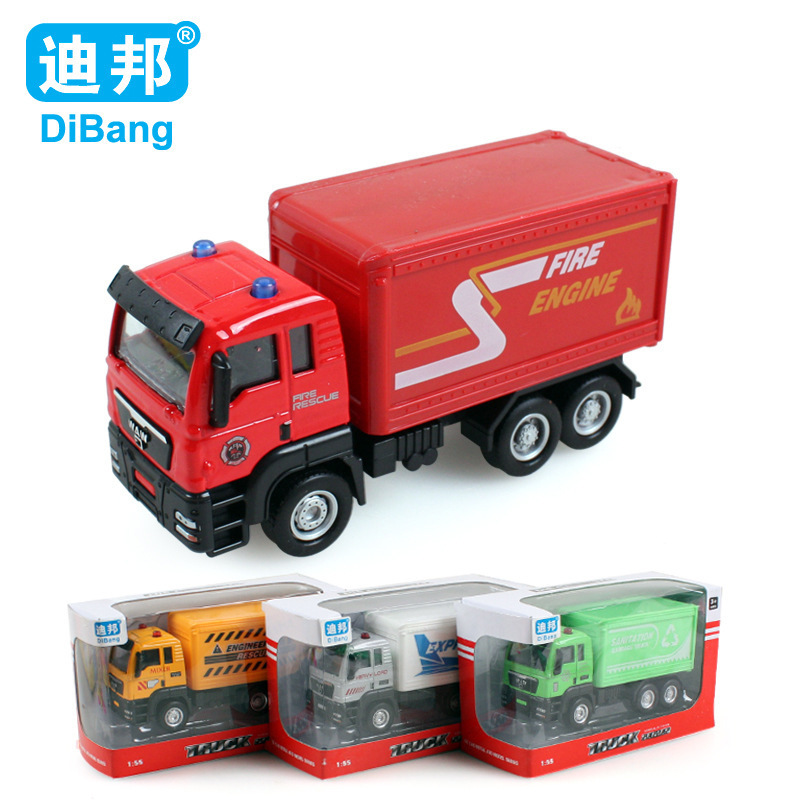 Alloy car 1:55 glide postal delivery car model Truck toy Collectible Model Toy 4pcs/set Christmas gift Free shipping(China (Mainland))