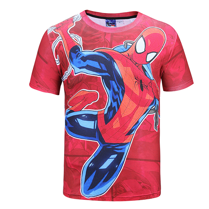 Mr.1991INC&Miss.GO New T Shirt Men Summer 3D Printed Men T-shirts Short Sleeve Fitness Tops Red Spider Man Tees Shirt Brand clot(China (Mainland))