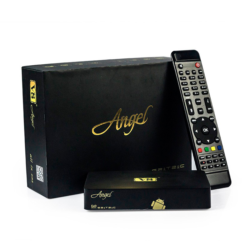 V8 Angel Amlogic S805 Android 4.4 TV BOX Full HD 1080p DVB-S2/T2 1GB 8GB OTT IPTV Live Streaming Online Support 3D/H265 movies(China (Mainland))