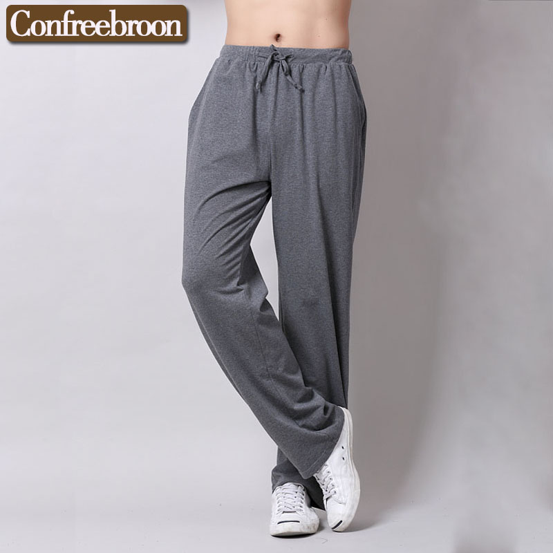 Men's Lounge Pants Cotton Elastic Pajamas Thin Sleep Bottoms Loose Casual Yoga Sports Trousers Suit For The Four Seasons C815-3(China (Mainland))