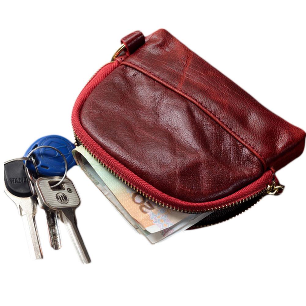 100% Real Genuine Cowhide Wallet Women & Kids Childrens Bags Mini Genuine Coin Purses Classic Nostalgia Wallets Handbag W8(China (Mainland))