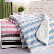 Buy Throw Blanket Thick Plush Blanket Super Soft Warm Cotton Knitted Blanket sofa/bed Thick Baby Blanket 150*200CM for $36.90 in AliExpress store