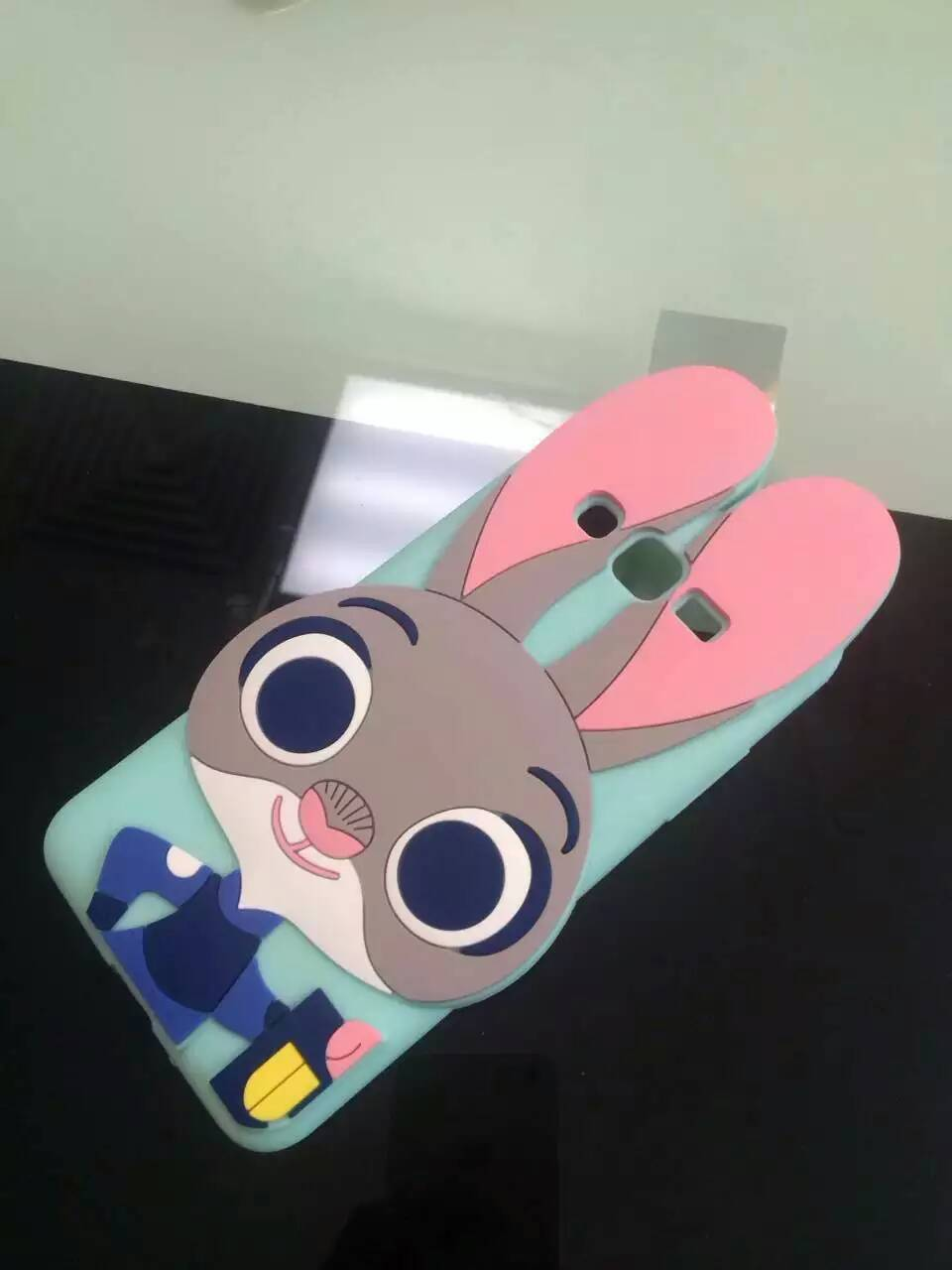 Lovely Cartoon Movie 3D Zootopia Judy Soft Silicone Case for Samsung G530h S5 S6 S7 Case Phone Cover for iPhone 6/6s 5/5s(China (Mainland))