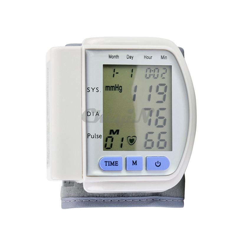 Automatic Wrist Sphygmomanometer Tensiometros Digital Blood Pressure Monitor Health Care Blood Pressure SYS /DIA /Pulse Meter 84(China (Mainland))