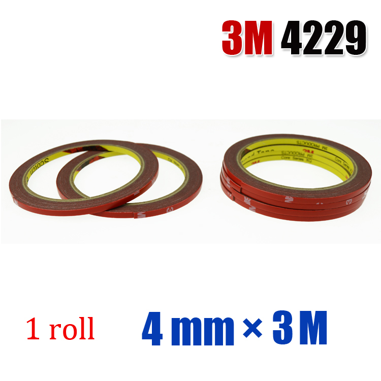3M Auto Acrylic Foam Double Sided Attachment Tape 1roll*4mm*3M(China (Mainland))