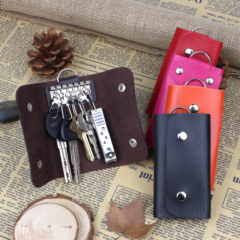 Wholesale Key Wallets Fashion Women Housekeeper key holder Candy Colors Cheap faux leather car wallet key bag(China (Mainland))