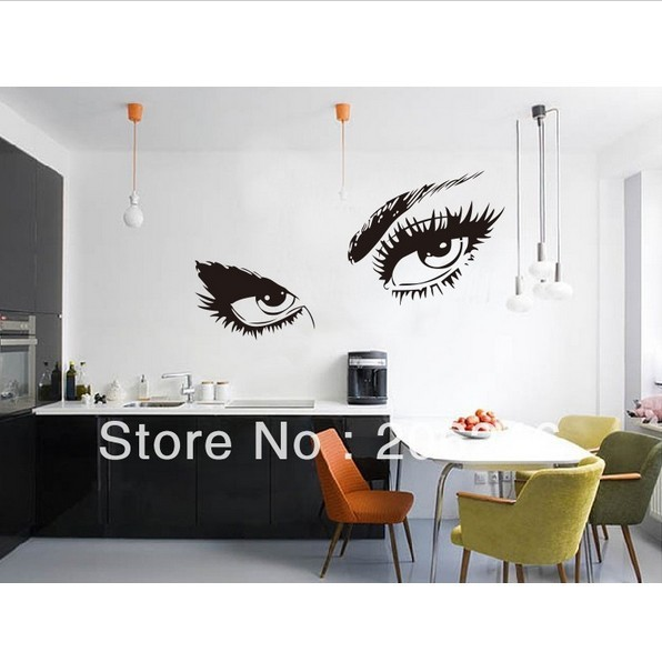 3 sizes audrey hepburn 39 s eyes vinyl window wall stickers