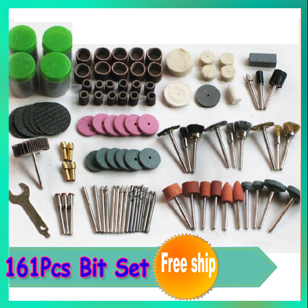 Free Shipping+161Pcs Bit Set With A Box Suit Mini Drill Rotary Tool &amp; Fit Dremel<br><br>Aliexpress