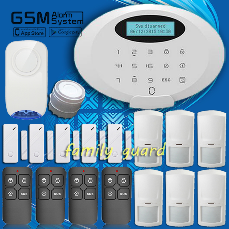 Free Shipping!Wolf Guard 850/900/1800/1900MHz Wireless blue Flash Siren bluetooth GSM Home Security Burglar invaded Alarm System<br><br>Aliexpress