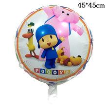 1 pcs Pocoyo Balões Foil Balões da Festa de Aniversário Da Menina do Menino Dos Desenhos Animados 18 ''Pocoyo Crianças Menino do Balão de Ar Balão de Hélio brinquedos(China)