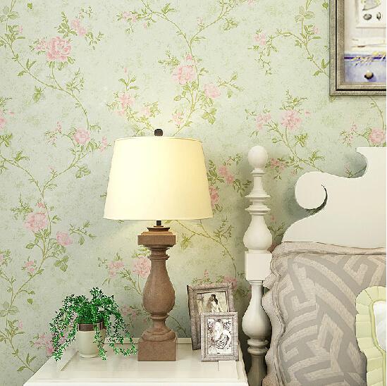 American Floral Vintage Wallpaper PVC Waterproof 3D Mural Wallpaper Roll Bedroom Living Room TV Background Papel De Parede 3D
