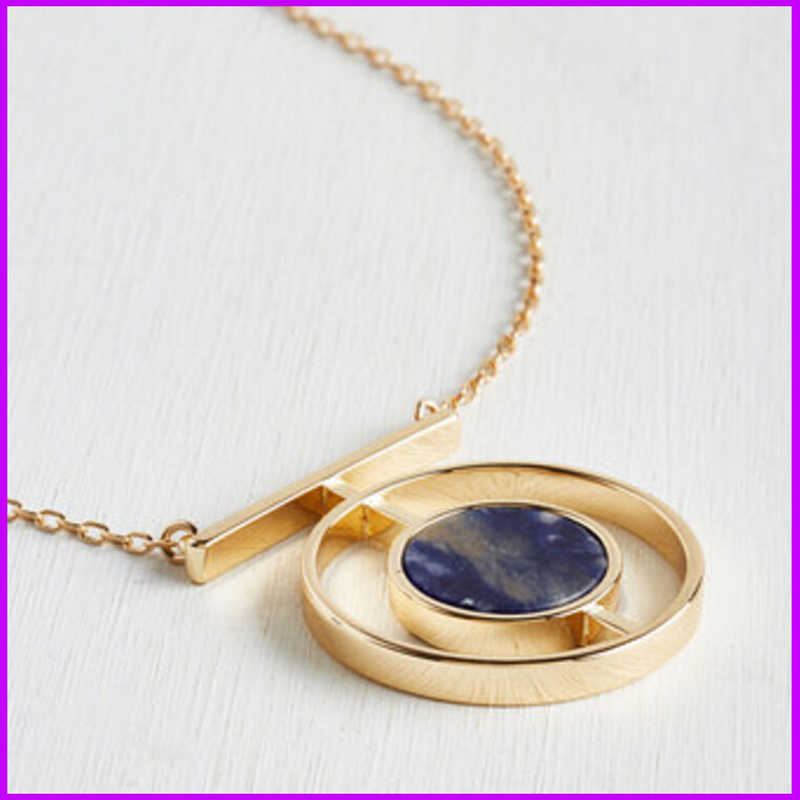 Famous Brand Forever Marble Jewelry Bijoux Long Necklaces Pendants 21 Sweater Chain Blue Stone 18 K Gold Plated Shop For Women(China (Mainland))