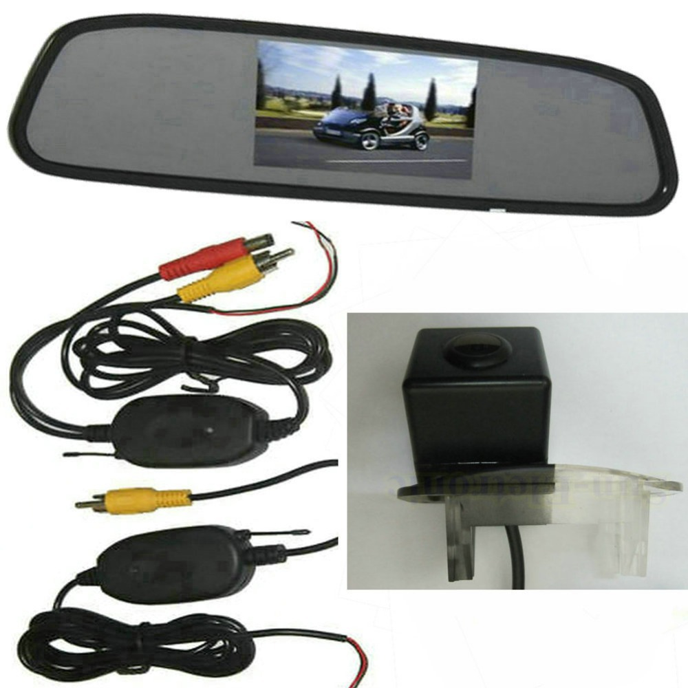 Wireless CCD Car Rear View Reverse Parking Camera + view Mirror Monitor LCD Mercedes-Benz B200 A-class W169 B-Class T24  -  Sunroad electronic factory store