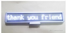 "Free shipping 21""x4"" Programmable LED Car Moving Display Sign Board Scrolling Message white(China (Mainland))"