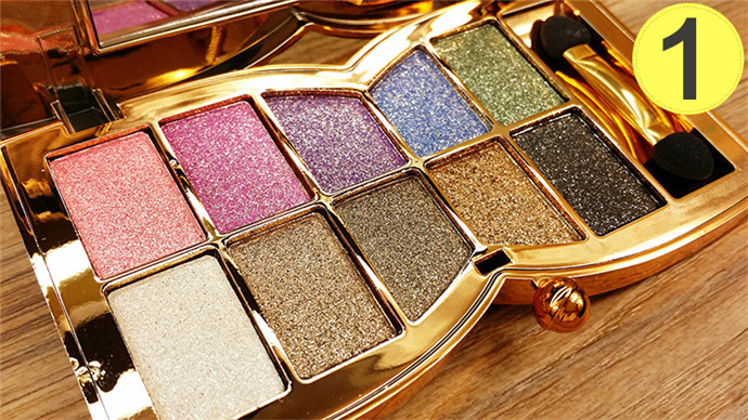 10 Color Diamond Eye Shadow Palette Make Up Professional Shimmer Single Eyeshadow Pigment Nude Shadow Makeup Cosmetics(China (Mainland))