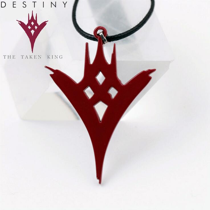Hot New Destiny The Taken King Game Cosplay Logo Mark Alloy Necklaces font b Japan b