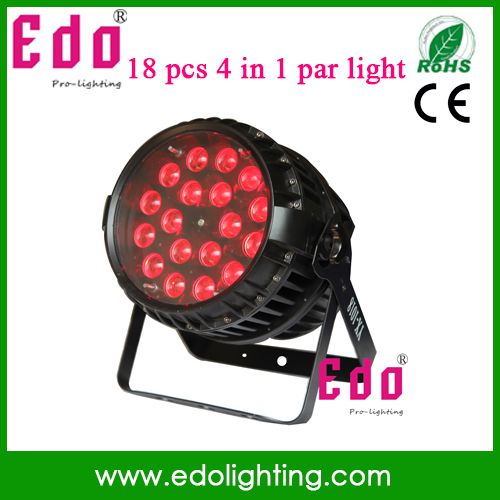 2015 18x 10W Led Stage Light IP65 High Power RGBW led par cans Light Equipments Controller for Party Disco(China (Mainland))