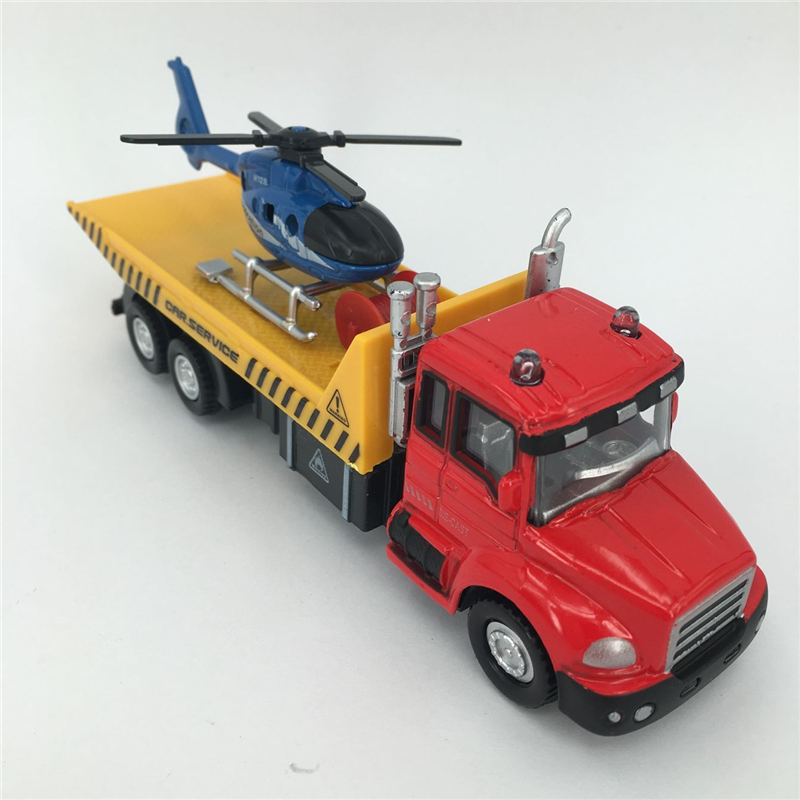 1:60 Die cast Metal + ABS Truck Toys Simulating Truck*1 + helicopter*1 Model Toys For Children Vehicle Brinquedos(China (Mainland))