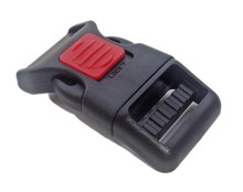 100pcs per lot 3/4 inch Guard switch safety plastic side release strap buckle for pet collar/bags(China (Mainland))