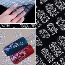 1Pack/108PCS Women Unique Beauty One Sheet Silver DIY 3D Nail Stickers Decals Manicure for Nail Foil Tools Art Decoration