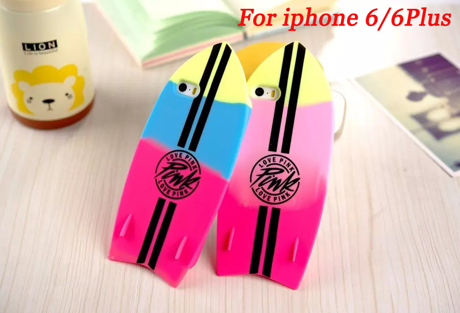2015 Hot sale Victoria/'s Secret Soft Silicone Surfboard Case Cover For Apple iPhone 6/6Plus With Retail Package Free Shipping(China (Mainland))
