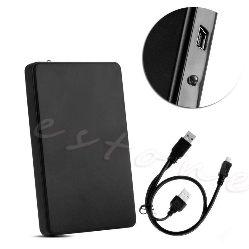 USB 2.0 Hard Drive External Enclosure 2.5inch SATA HDD Mobile Disk Box Case(China (Mainland))