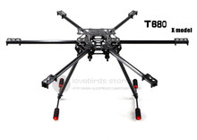 DIY FPV Aerial drones T680 hexacopter glass fiber/pure carbon fiber Fixed frame with folding landing gear