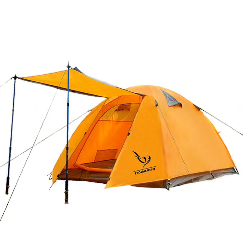 POINT BREAK Outdoor Camping Tent Aluminum Rod 3-4 Person Double Layer Tent Camping Tent Family Camping Waterproof Anti-UV(China (Mainland))