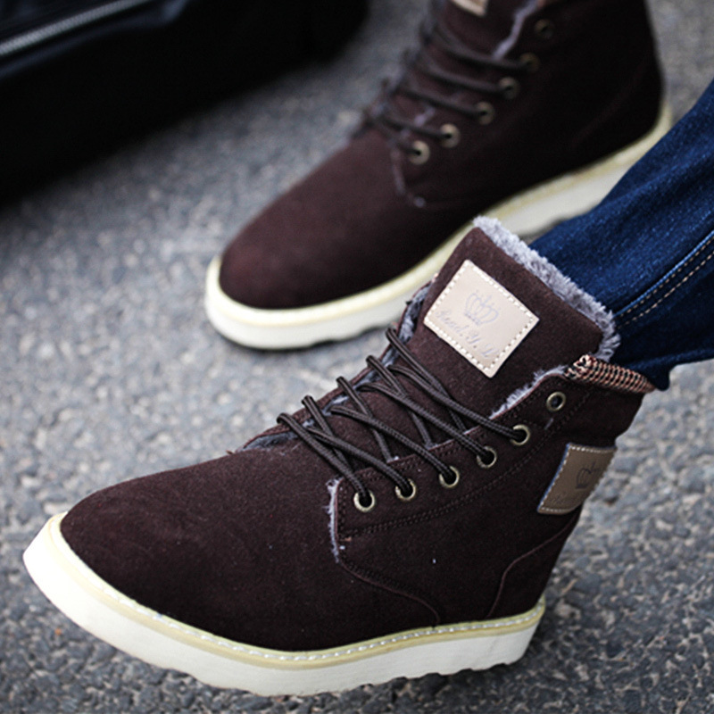 Гаджет  Winter boots ankle boots men zapatos hombre men boots hot fashion casual Plus velvet Warm winter shoes men botas masculina None Обувь