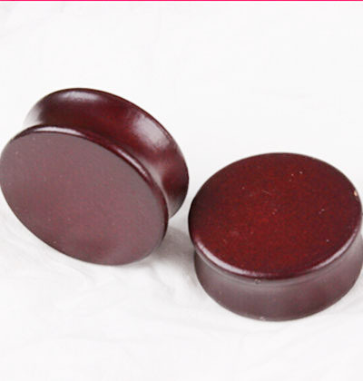 Wholesale 2pcs/lot Big Size Brown Wood Ear Gauge Plugs And Tunnels Stretcher Expander Saddle Fit Plugs 8mm-35mm Pinna Piercing(China (Mainland))