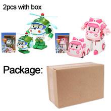 Figuras de ação Modelo de Transformação Robô Coréia Anime Robocar Poli Carro Crianças Meninos Brinquedos Para As Crianças Presente F4(China)