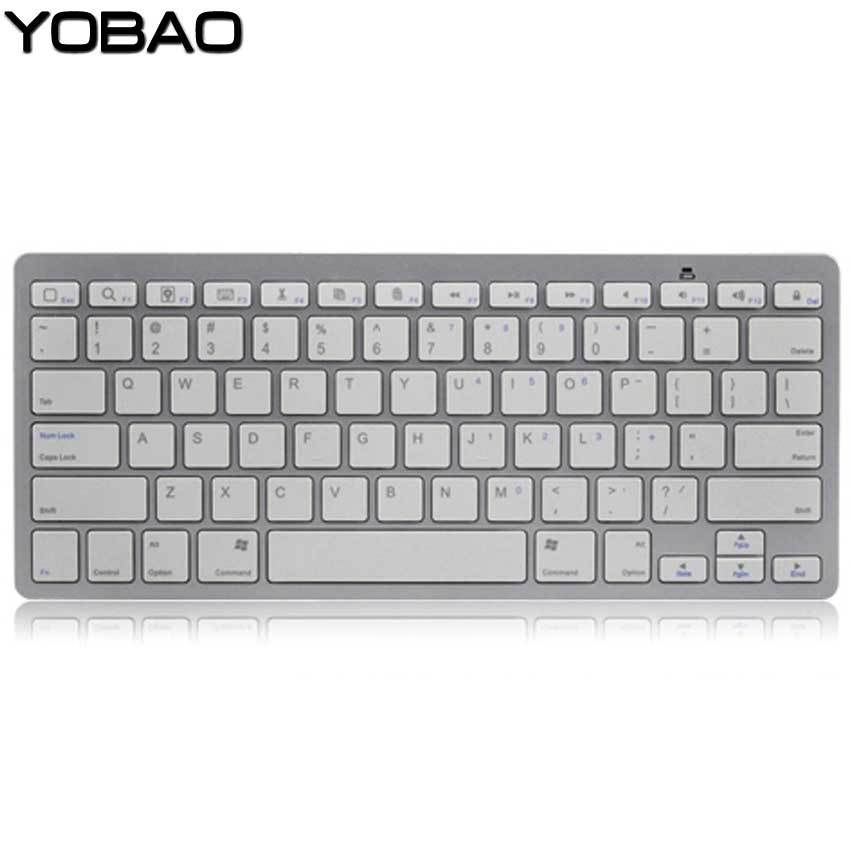 2015 White Slim Wireless Bluetooth Keyboard for iPad iPhone iPod Touch PS3 Keyboard for Android/Phone/PC/Tablet PC Free Shipping(China (Mainland))