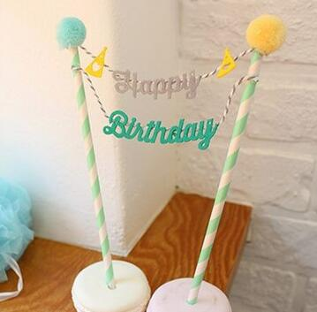 cake toppers paper cards banner for Cupcake Wrapper Baking Cup birthday tea party decoration Wholesale(China (Mainland))