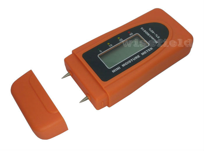 Moisture Meter Wood Bamboo Cotton Mini 2Pins LCD Tester Timber Damp Detector MD816(China (Mainland))
