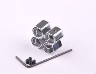 Stainless steel Car Tyre valve series tire valve cap gift wrench 4pcs a set(China (Mainland))