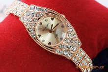 Envío gratis, 2013 populares pulsera de negocio exquisito diamante del reloj del regalo 136914