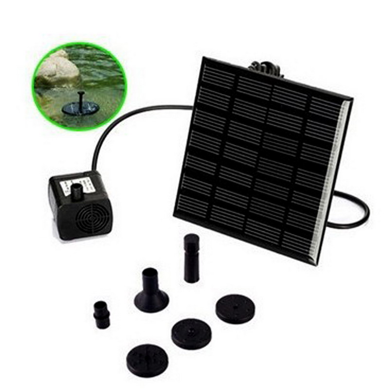 180L/H Brushless DC Solar Water Pump Power Panel Kit Fountain Pool Garden Watering Pumb Solar Power Fountain Garden Sprinklers(China (Mainland))
