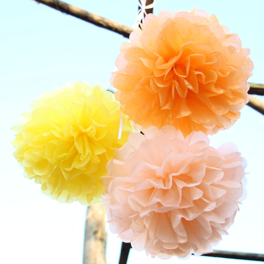 Wall Decor Tissue Paper : Quot tissue mini pom poms set of paper small