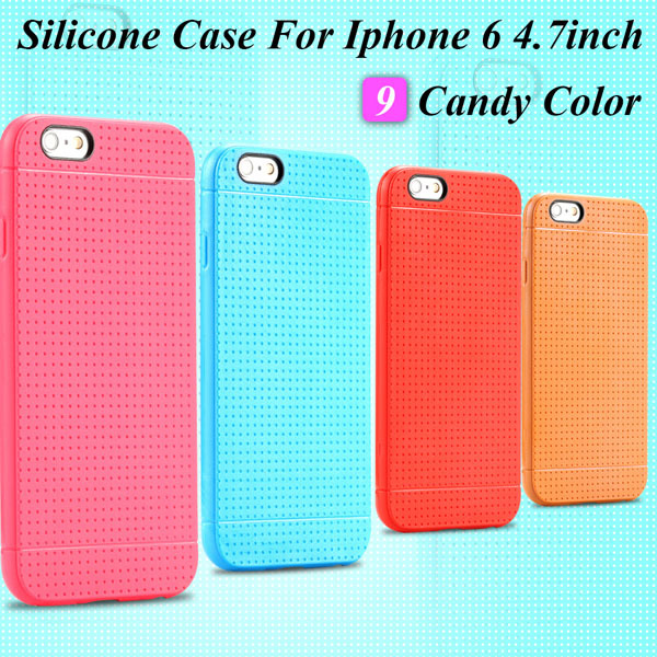 I6 Silicone Case Soft TPU Back Cover For Iphone 6 4.7inch Ultra Thin Rubber Gel Case Capa TPU Protective Skin For Iphone 6(China (Mainland))