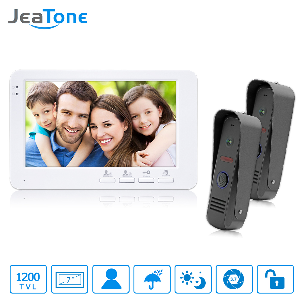 JeaTone Wired Video Doorbell HD Home Ring and Camera Night Vision Hands-free Indoor Monitor Unlocking Video Door Phone CCTV(China (Mainland))