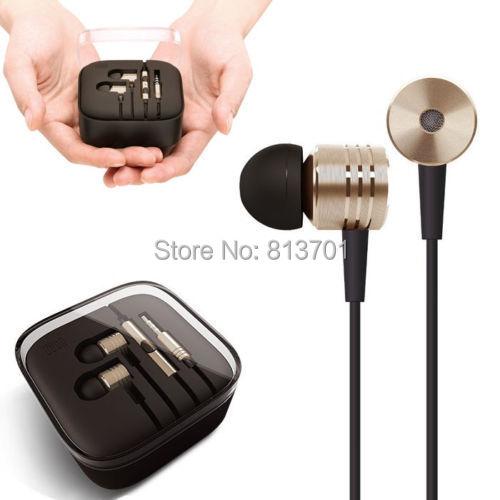 New Original Gold XIAOMI Piston Earphone 2 II Headphone Headset Earbud with Remote & Mic For MI2 MI2S MI2A Mi1S M1 Hongmi Phones