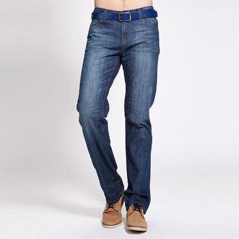 Summer TONLION male whisker straight denim trousers n380