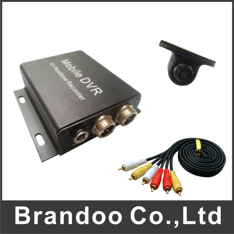 Free shipping 1 channel taxi DVR kit, works with mini Car camera, 5 meters video cable included, support 64GB sd card(China (Mainland))