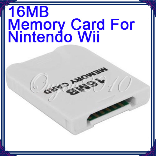 New Best Promotion White 16MB 16M Memory Storage Card Save Saver For Nintendo For WII For GameCube New Gift(China (Mainland))